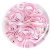 Glass Lamp Bead 30mm Round Pink